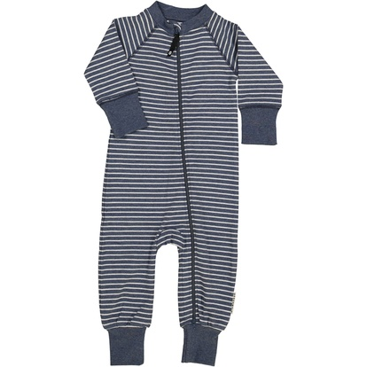 Two way zip -Pyjamas Classic Marin blue stripe · Geggamoja 5212c1b8b4136