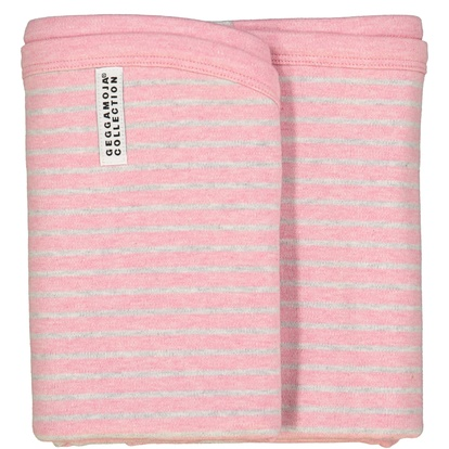 Baby blanket Classic Pink Daisy stripe