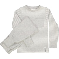 Pyjamas 2-pcs Classic Light grey stripe