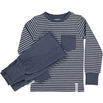 Tvådelad Pyjamas Classic Marinblå randigt 205c01108cc82