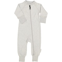 Two way zip -Pyjamas Classic Light grey stripe
