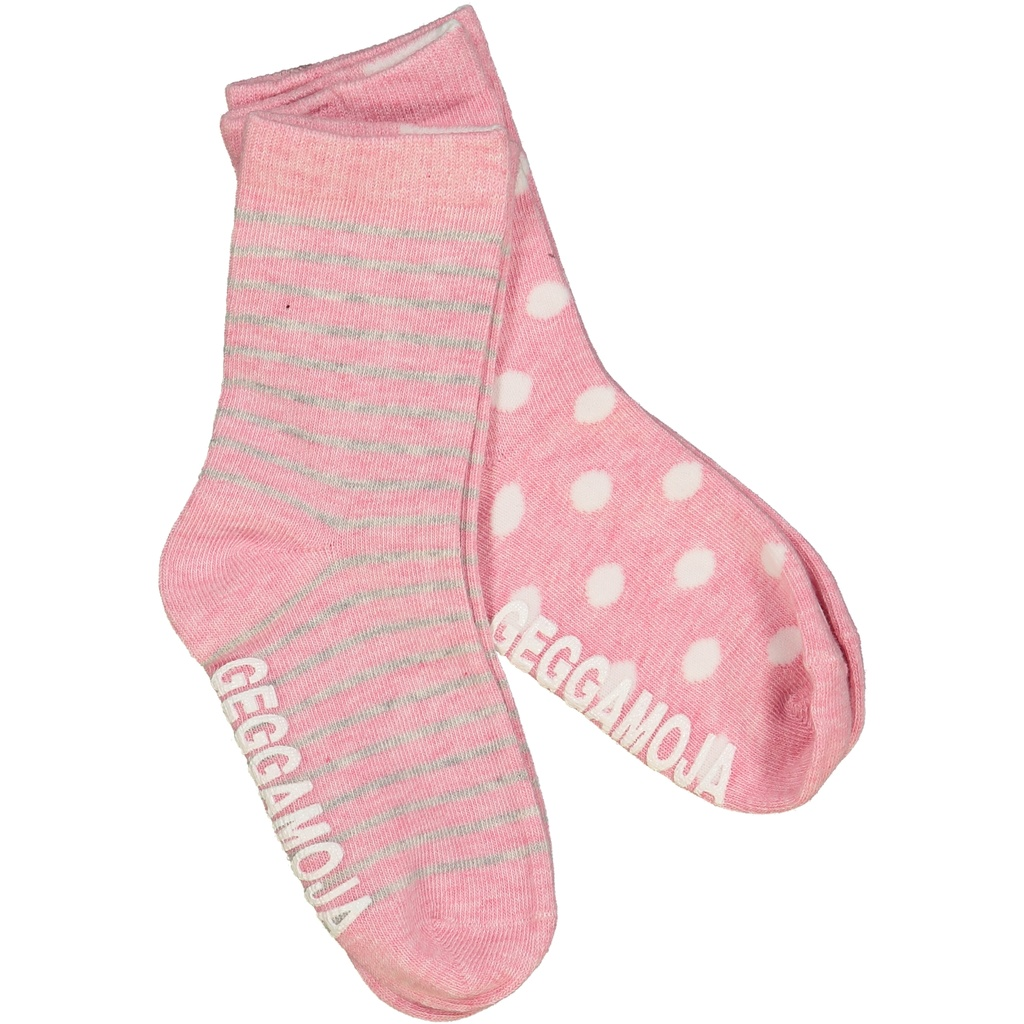 Sock Classic 2-pack Pink Daisy solid 34-36