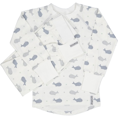 2-pcs pyjamas whale Grey. Geggamoja 61f069982b0ca