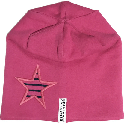 Star cap fleece Cerise