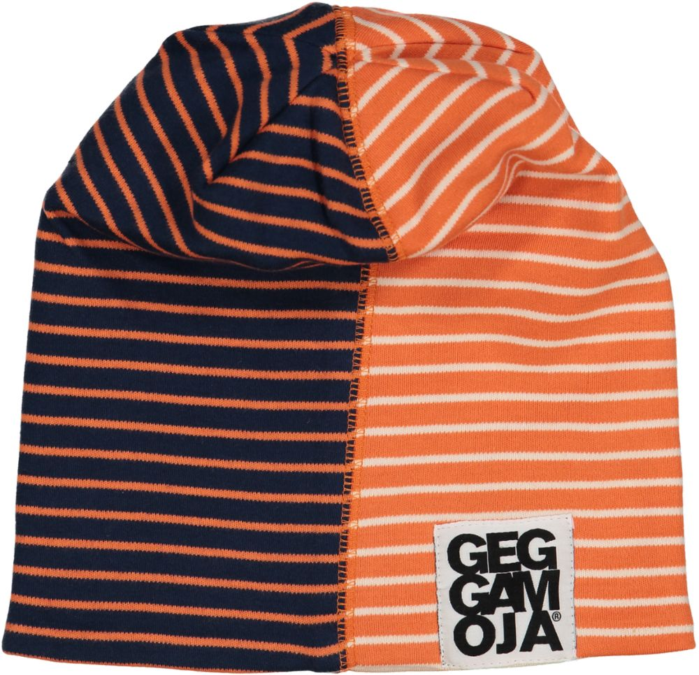 Two col cap fleece Marine/orange
