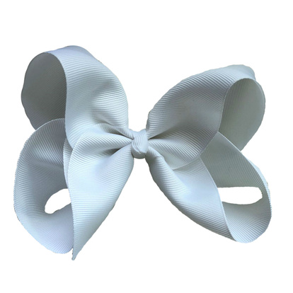 Hair bow clip White One Size