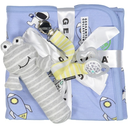 Blanket Astronaut Light blue One Size