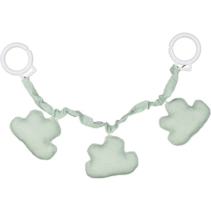 Stroller toy cloud Mint/white