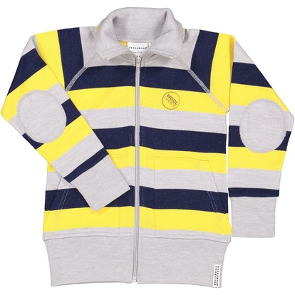Wool zip jacket Yellow stripe