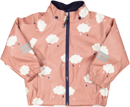 Rain set fleece Dust pink cloud
