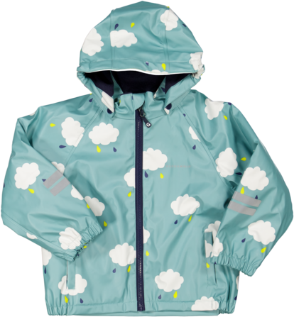 Rain set fleece Dust turq cloud