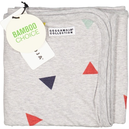 Bamboo baby blanket Grey triangle