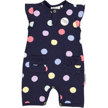 Bamboo summer suit Navy multi dots