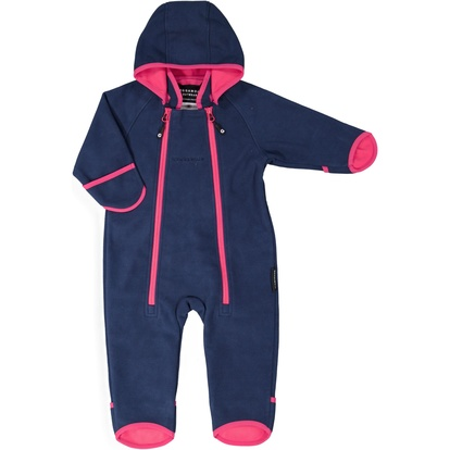 Windfleece overall  Navy/cerise