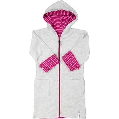 Kids bathrobe Purplepink stripe