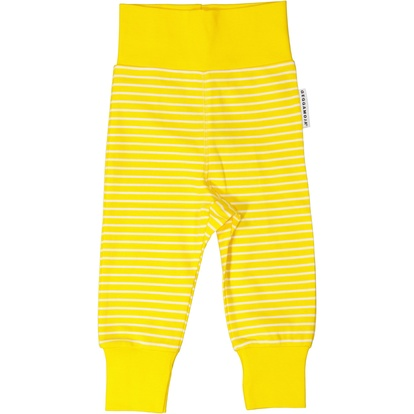 Baby trousers Yellow/white