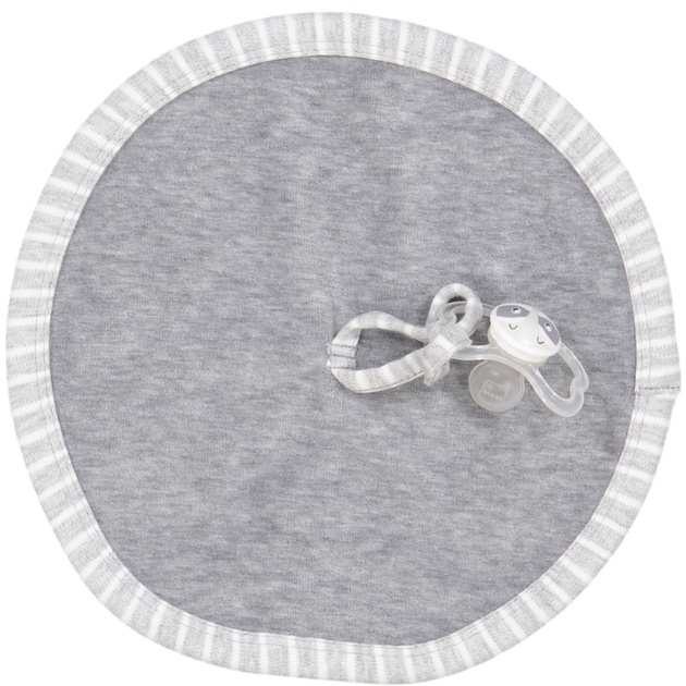 Pacifier cloth grey mel/white